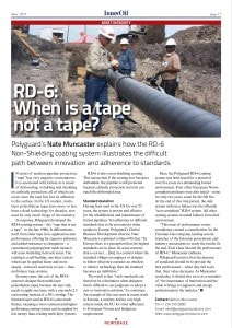 "InnovOil 6-2015 ""RD-6: When is a tape not a tape"""