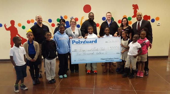 Polyguard Products, Inc donates $5k to Corsicana Boys & Girls Club March 2017