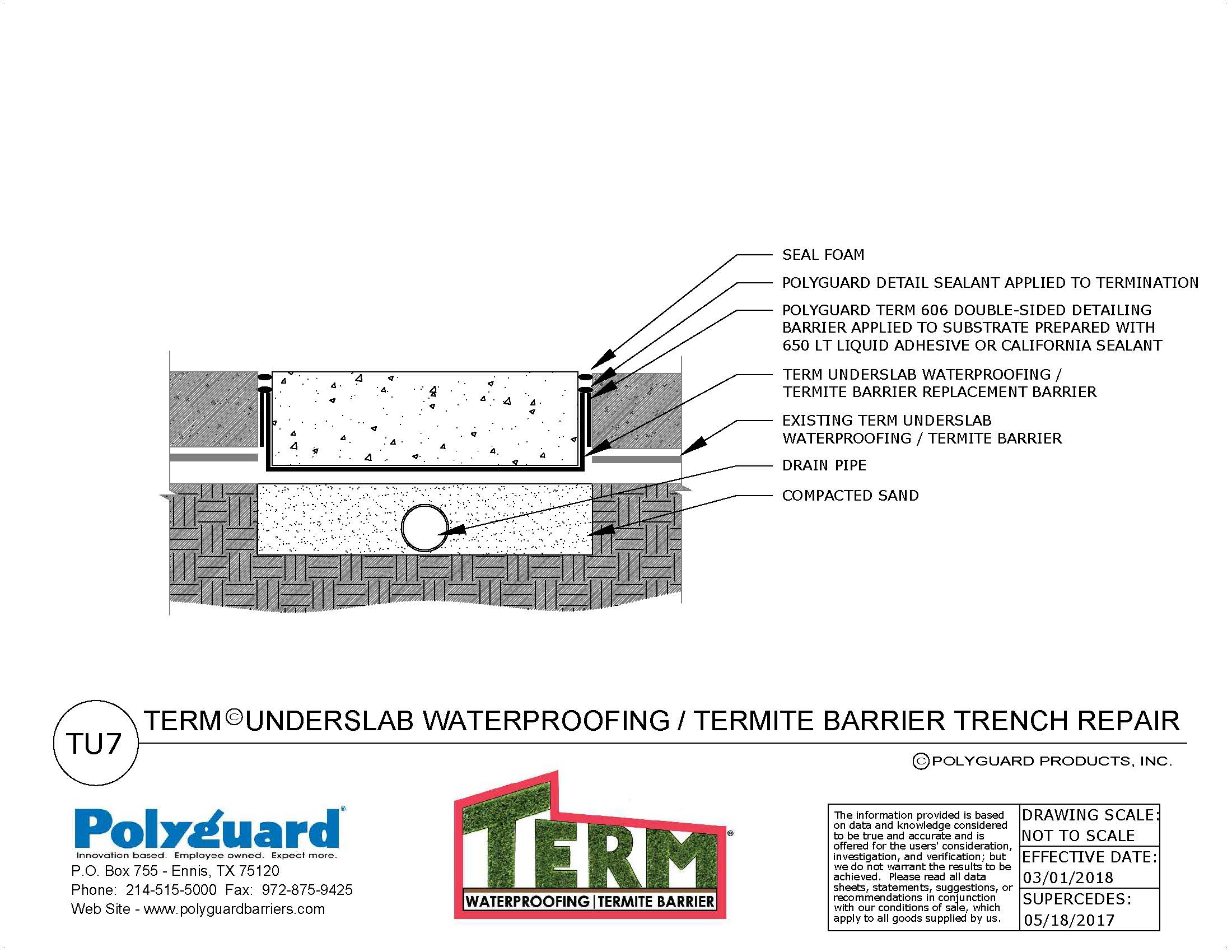 TERM Pest Control Barrier Product Details and Instructions