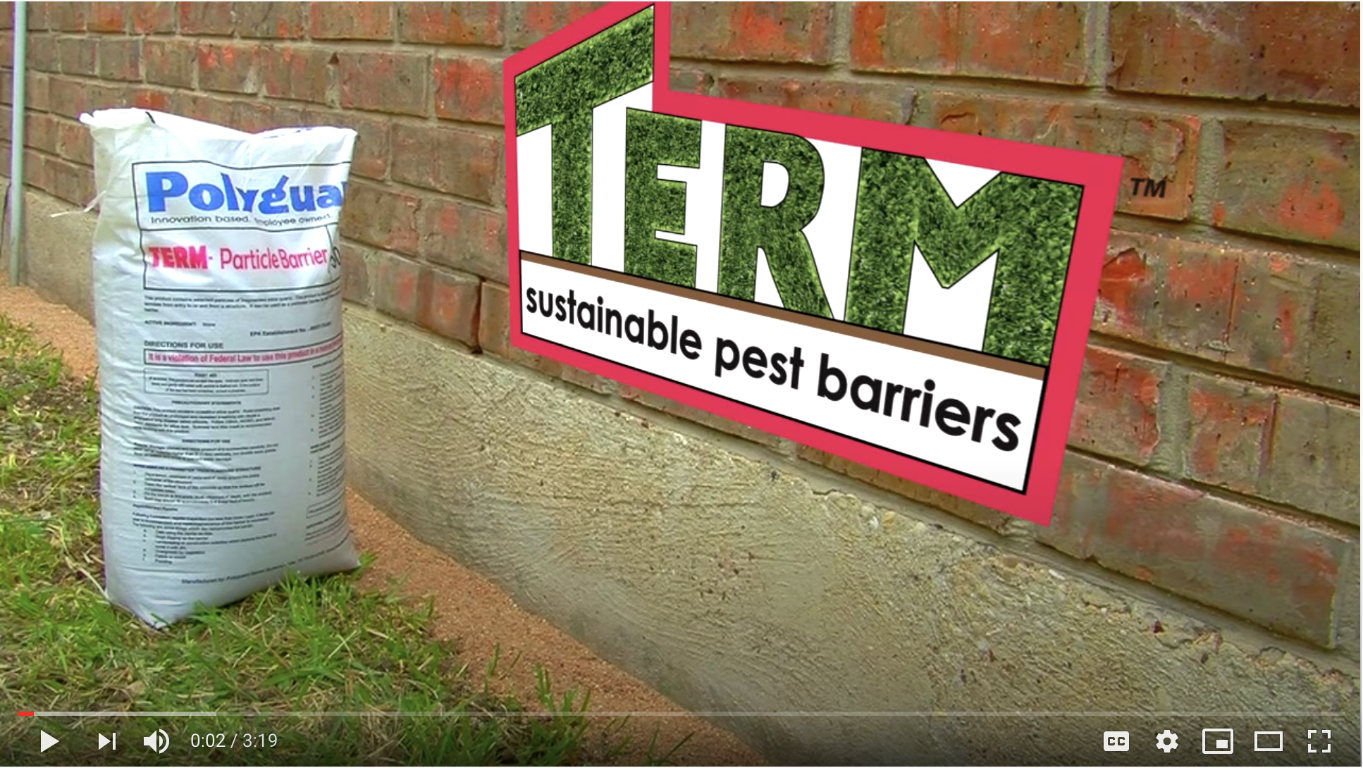 Termite Particle Barrier for Exposed Concrete Perimeter
