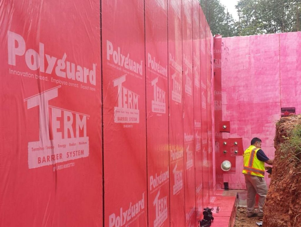 TERM Water Termite Barrier for ICF foundation walls