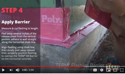Water|Termite Barrier for Flashing Still Shot of Video
