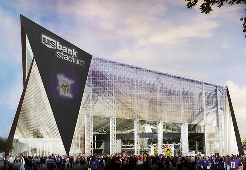 Viking Stadium Facade
