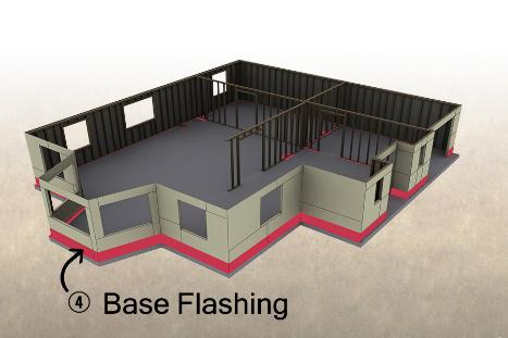 Base Flashing Barrier Diagram