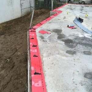 TERM Sill Barrier being applied on perimeter