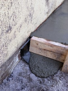 Isolation Joint Barrier after concrete work